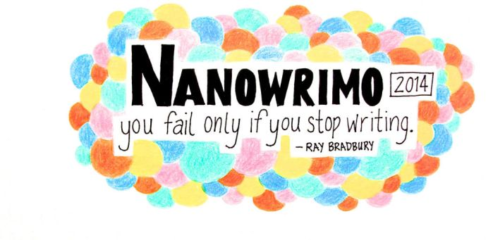 NaNoWriMo 2014 facebook cover by saltylime