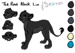 TheRealBlackLion - ref sheet by Iva-Inkling