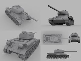 t-34 finished by cedtomcat