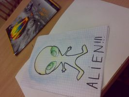 There's an ALIEN in our class by ZimPLUSDib