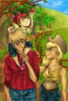 Applejack Family by AalienoOr
