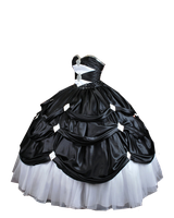 Black and White Ball Gown PNG by Vixen1978