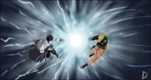 naruto vs sasuke by Donquixot