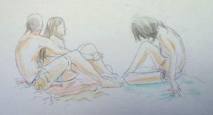 Beach sketches 2 by MlleMalice