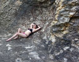 Lingerie On Rocks by candhphotography