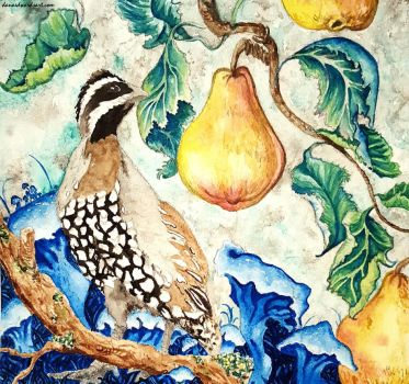Partridge In A Pear Tree by Ellofayne