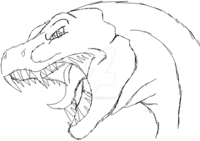 dino dragon roar doodle by Spinosaur123