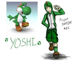 Project SMASH - Yoshi by Krowjak