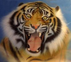 Airbrush Tiger: time lapse film link below by JPfx