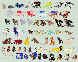 Point Adoptable Sale- ALL MUST GO 14 left by Featherwind21