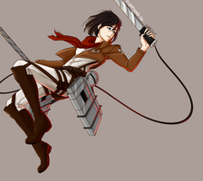 Mikasa Ackerman by Riding-Lights