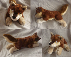 Brown wolf pup plush: finished by goiku