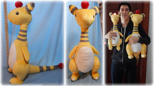 Big 'ol Ampharos Plush - Free Pattern! by Diffeomorphism
