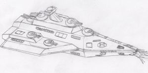 Space Dreadnought by Imperator-Zor