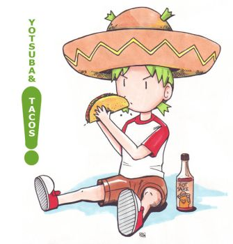 Yotsuba and Tacos by bryanyw