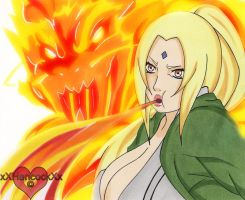 Tsunade Fire Dragon Bullet by xXHancockXx