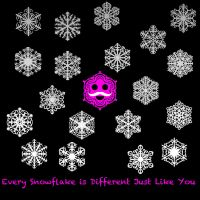 Every Snowflake is Different by shadowlovinfanbunny