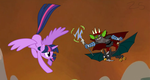 Twilight Faces Zander Goblin In Another Dimension by Zacharygoblin55