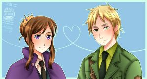 APH: Mrs. France and Mr. UK by Pink-Daisy21