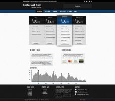 Simple Clean Hosting Template For Sale by lucenzo