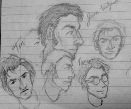 Sketchy FACES Lined Paper by pkmarie