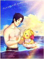 Family Moments with Markiplier and Chica by rydi1689