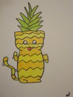 Pineapple Cat by TheRoyalPurple-kat