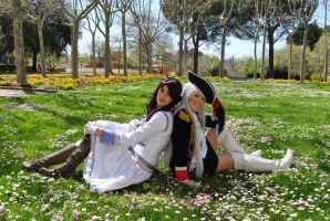 les fleurs du mal-  Prussia and Austria cosplay by Voldiesama
