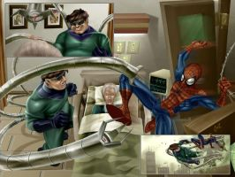 Spider-Man Vs Doc Ock by fernandogoni