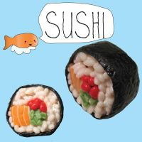sushi time by MotherMayIjewelry
