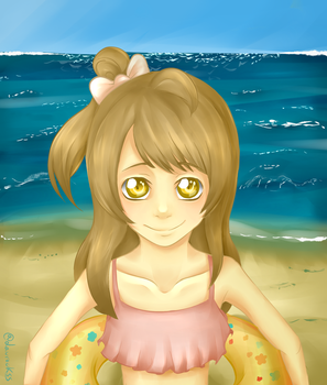 Pure child on the beach by laurockss