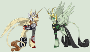 My Little Asgardians by ToxicUnicorns