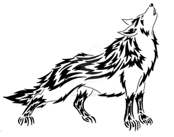 Howling Mightyena tribal by AlexisRendell