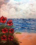 Poppies By The Sea by MagicAlly25