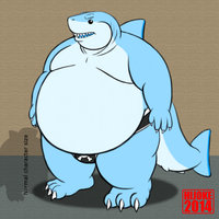 Art Trade: Megalodon Shark Character by DragonDoctor