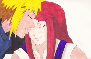 Minato and Kushina. - Naruto. by IrishRickmaniac