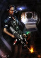 Alien Isolation : Amanda Ripley by danosborne
