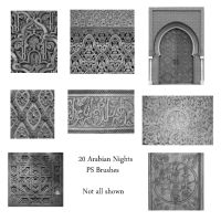 20 Arabian Night PS Brushes by Spyderwitch