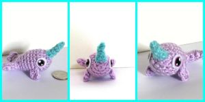 Narwhale Amigurumi crochet by Windowsillcharms