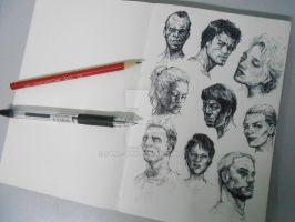 Pen sketches by SAM---tan