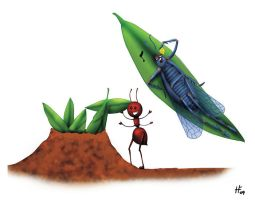 The Ant and The Cicada by Zacramandy