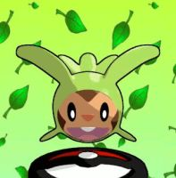 Chespin Harimaron 3DMascotte [blendfile available] by Geologo