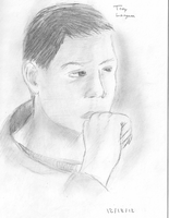 A sketch of my friend by woundedkneecap