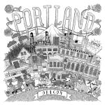 Portland Print - Black and White by TomBerryArtist