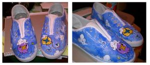Finished Drifloon Shoes by PeppermintCactus