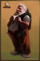 7 Dwarves - Sneezy the Dwarf by JordyLakiere