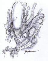 Xenomorph commission DCC by ChrisOzFulton