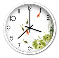 Koi Pond Analog Clock for xwidget by jimking