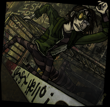 Anthony takes the stairs by evil-goma