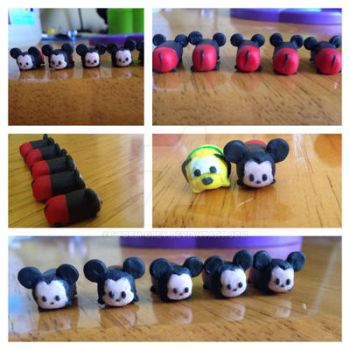 Mickey Mouse Tsum Tsum Polymer Clay Charm WIP by Storm-Grey
